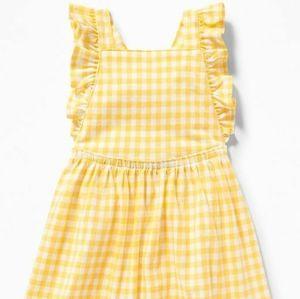 Baby Girl Printed Jersey Apron Dress